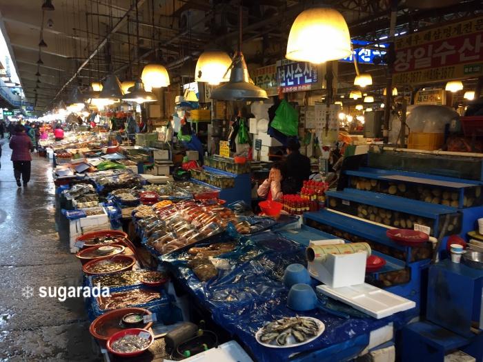 旅遊|首爾 豪氣海鮮早餐 鷺梁津水產巿場